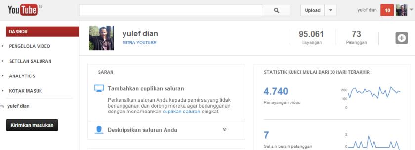 Saya ikut mengaktifkan Channel Youtube