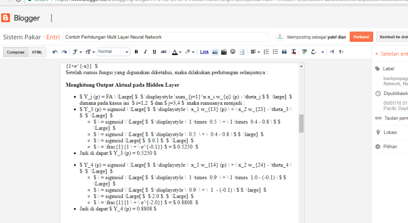 Contoh Script MathJax